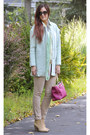 Tan-ankle-boots-enzo-angelino-boots-light-blue-sheinside-coat