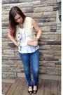 Navy-ralph-lauren-jeans-cream-ralph-lauren-vest-white-unknown-top