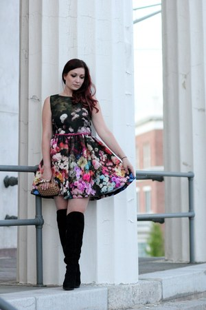 black RED valentino dress