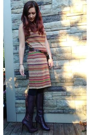 tawny Ralph Lauren dress - dark brown Ralph Lauren belt