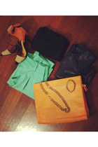 orange leather clutch gmarket bag - black trade secret shirt