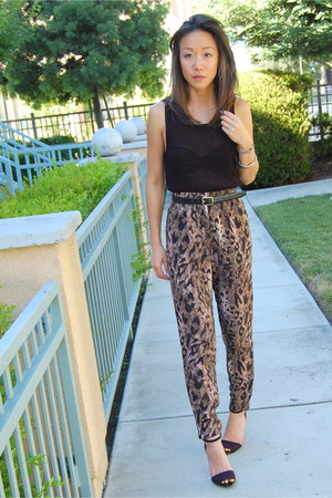 H&M pants - Zara heels - Ralph Lauren top