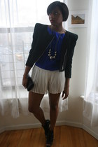 BCBGeneration blazer - BCBGeneration purse - Topshop shorts - Nine West heels -