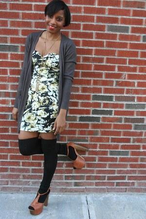 Jessica Simpson shoes - asos dress - American Apparel socks - H&M cardigan