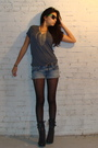 Black-f21-boots-black-tights-blue-american-eagle-shorts-gray-f21-t-shirt-
