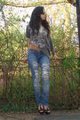 Black-ysl-shoes-blue-hollister-jeans-gray-hot-topic-t-shirt-white-self-mad