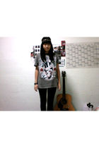 gray Insight t-shirt - black Ninety Degree jeans - black accessories - black dep