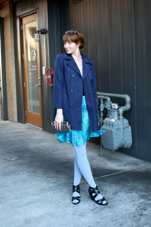 navy vintage jacket - periwinkle We Love Colors tights