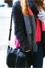 Black-romwe-jacket-bubble-gum-h-m-scarf-black-vj-style-bag