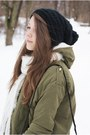 White-tommy-hilfiger-boots-black-reserved-hat-olive-green-romwe-jacket
