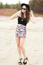 Hot-pink-wholesale-skirt-black-czas-na-buty-shoes-black-oasap-hat