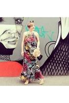 silk Leiela dress - chiffon david jones bag - leather jcome heels