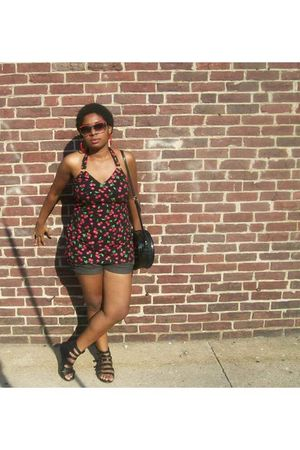 black energie dress - silver from marshalls shorts - black Forever 21 shoes - bl
