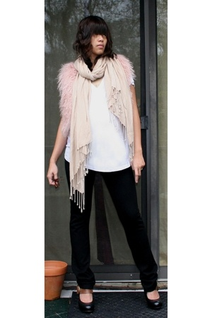 Topshop vest - H&M scarf - the gap t-shirt - Forever21 pants - Dolce Vita shoes