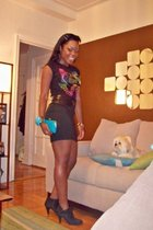 Forever21 skirt - payless shoes - strawberrys accessories - liz claiborne wallet