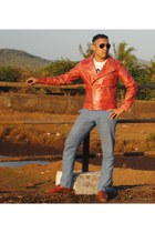 Munir Khamker jacket - avaitors Ray Ban sunglasses - Munir Khamker pants