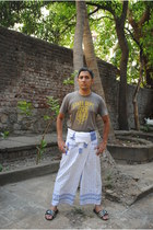 cotton t-shirt t-shirt - Munir Khamker pants - slippers adidas flats