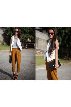 Zara sandals - Mango bag - Zara vest - Zara pants