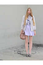purple vintage blouse - periwinkle American Apparel jacket