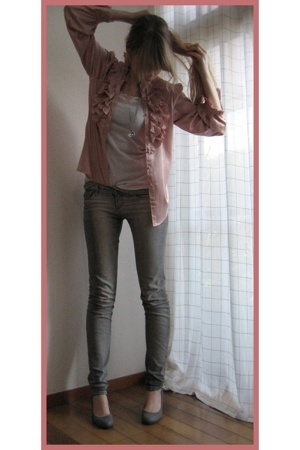 vintage shirt - H&M jeans -  top - Newlook top
