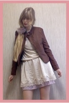 Riche Glamour jacket - vintage dress - Zara shoes