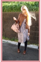 vintage dress - Riche Glamour jacket - Zara shoes - Miu Miu purse