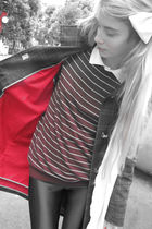 red Tommy Hilfiger jacket - red American Apparel sweater