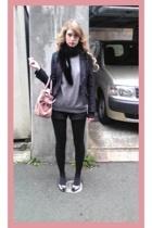 vintage blazer - vintage scarf - vintage sweater - Zara shoes