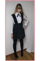 handmade dress - Muji shirt - new look shoes - handmade tie