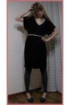 Mango dress - H&M leggings - store in harajuku shoes - H&M top - H&M accessories