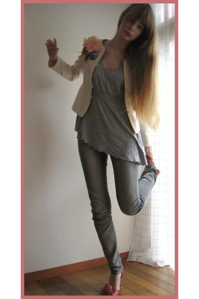 banana republic blazer - H&M pants - H&M top - Yellow 96 shoes - Milkfed necklac