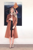 coral vintage coat - white my boyfriends shirt