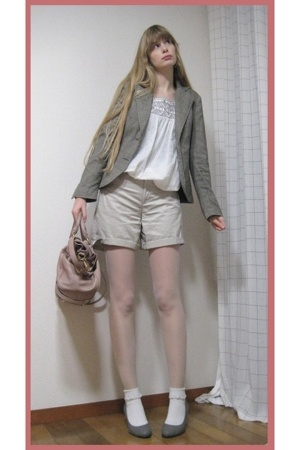 Comme a ISM shorts - vintage top - vintage blazer - when I was young socks - on