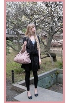 Zara dress - Miu Miu purse - new look top - American Apparel leggings - Shibuya
