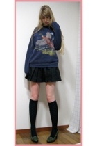 vintage sweater - japanese uniform skirt - socks store in harajuku socks - Some