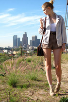 periwinkle American Apparel jacket - light brown American Apparel shorts