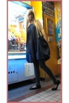APC dress - Riche Glamour jacket - H&M leggings - Zara shoes - handmade earrings