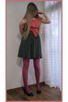 H&M top - made by my friend Junko skirt -  stockings - vintage belt - Newlook sh