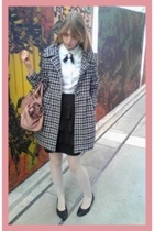 Miu Miu purse - H&M skirt - H&M shirt - vintage shoes - vintage coat