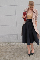 crimson vintage bag - black vintage skirt - nude American Apparel bodysuit
