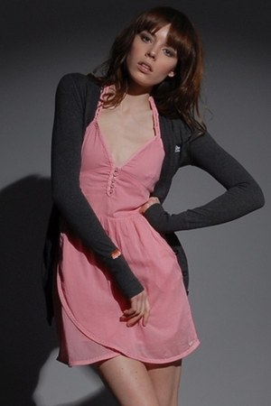 pink vintage thrift Superdry dress