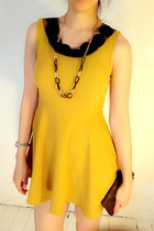 Mustard-mini-dress-mychickpea-dress