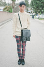 Black-alexander-wang-shoes-ivory-h-m-sweater-black-trussardi-bag