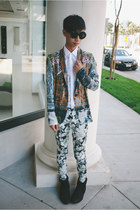 white baroque Clover Canyon blazer