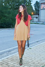 Zara-boots-camel-asos-dress