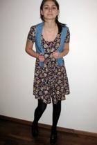 monkii vest - vintage dress