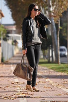 Forever 21 loafers - Stradivarius jeans - Stradivarius jacket - Zara sweater