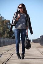 Mango sweater - Topshop boots - pull&bear jacket - Mango bag