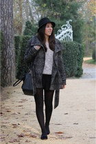Zara coat - H&M hat - Mango sweater - Primark bag - Zara flats