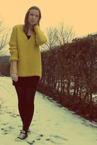 mustard Zara sweater